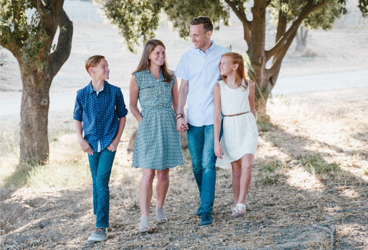 family, positive, walk
